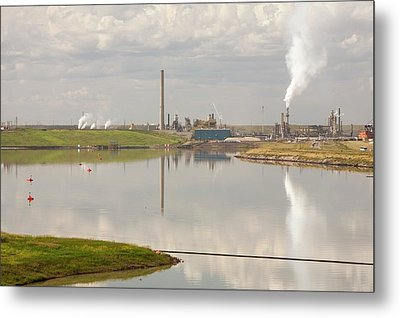 Tailings Pond Syncrude Tar Sands Mine Metal Print by Ashley Cooper