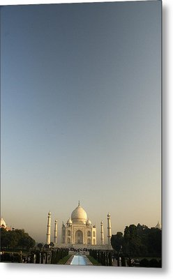 Taj And Morning Sky Metal Print