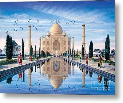 Taj Mahal Metal Print by Steve Crisp