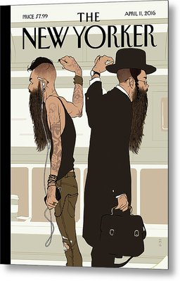 Take The L Train Metal Print by Tomer Hanuka