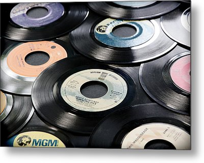 Take Those Old Records Off The Shelf Metal Print by Athena Mckinzie
