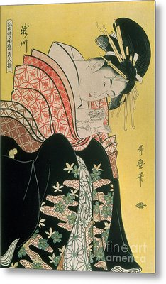 Takigawa From The Tea House Ogi Metal Print