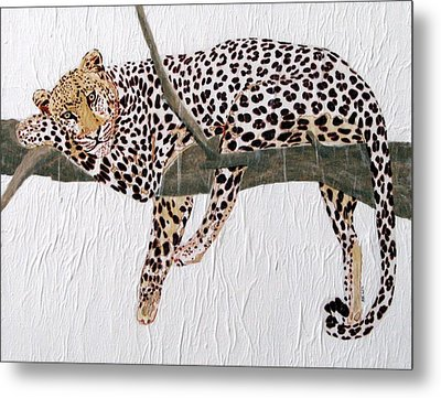 Metal Print featuring the painting Taking A Break by Stephanie Grant