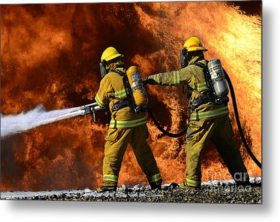 Taking A Stand Metal Print by Bob Christopher
