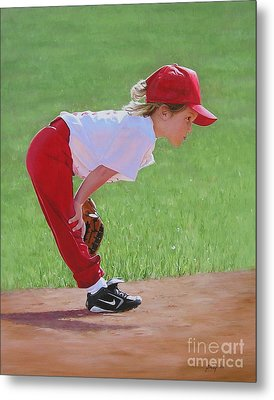 Taking An Infield Position Metal Print by Emily Land