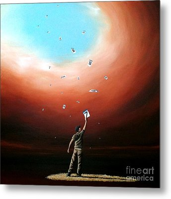 Metal Print featuring the painting Taking One Day At A Time by Ric Nagualero