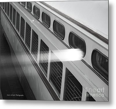 Taking The Bus In San Francisco Metal Print by Artist and Photographer Laura Wrede