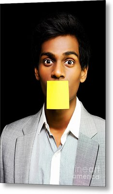 Talkative Forgetful Office Worker Metal Print by Jorgo Photography - Wall Art Gallery