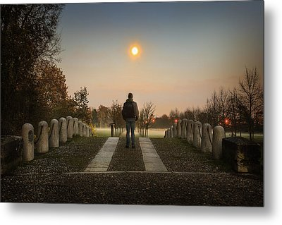 Talking To The Moon Metal Print by Alfio Finocchiaro