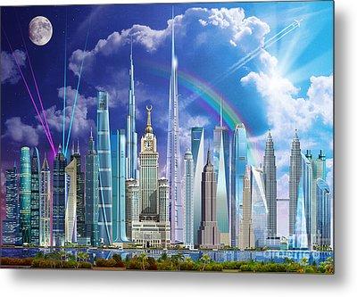 Tall Buildings Metal Print by Garry Walton