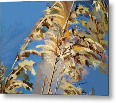 Tall Grass Mix Metal Print by Anthony Fishburne