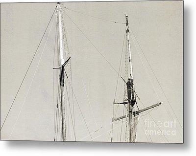 Tall Ship At Dock Metal Print by Barbara Bardzik