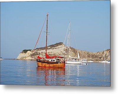 Tall Ship Metal Print by George Katechis
