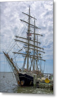 Metal Print featuring the photograph Tall Ship Gunilla Vertical by Dale Powell