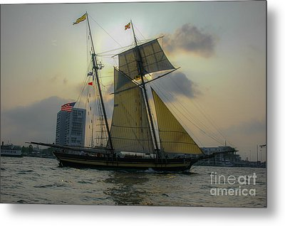 Metal Print featuring the photograph Tall Ship In Charleston by Dale Powell