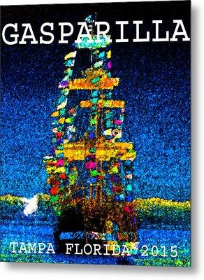 Tall Ship Jose Gasparilla Metal Print by David Lee Thompson