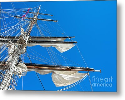 Tall Ship Yards Metal Print