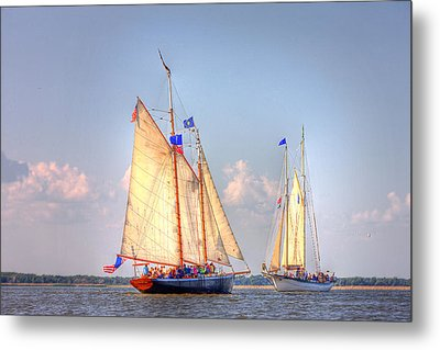 Tall Ships Metal Print by Fuad Azmat