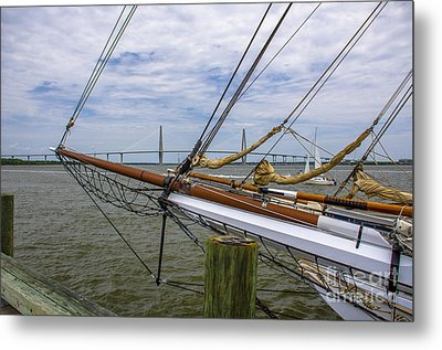 Metal Print featuring the photograph Tall Ships In Charleston by Dale Powell