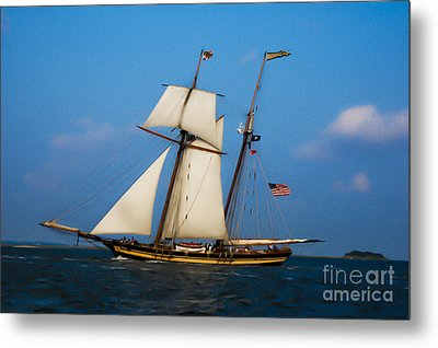 Metal Print featuring the digital art Tall Ships Over Charleston by Dale Powell