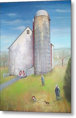Tall Silo Metal Print by Oz Freedgood