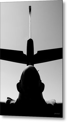 Metal Print featuring the photograph Tall Tail - B-1b/7 Wishes by Steven Milner