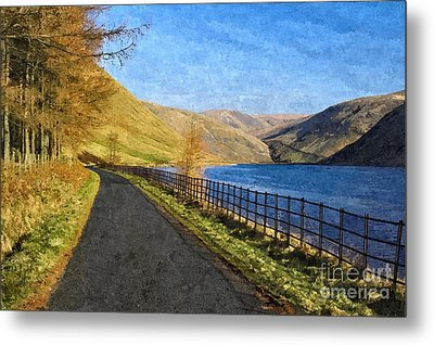 Metal Print featuring the photograph Talla Reservoir Scottish Borders Photo Art by Les Bell