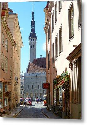 Tallinn City Hall Metal Print by David Nichols