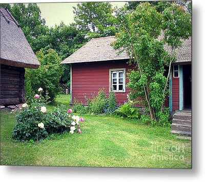 Metal Print featuring the photograph Tallinn Historic Village by Art Photography