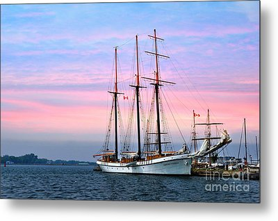 Tallship Empire Sandy Metal Print by Elaine Manley