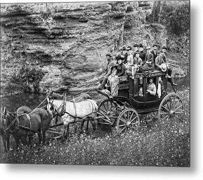 Tallyho Stagecoach Party C. 1889 Metal Print by Daniel Hagerman