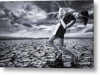 Metal Print featuring the digital art Taming The Lightning by Evgeniy Lankin