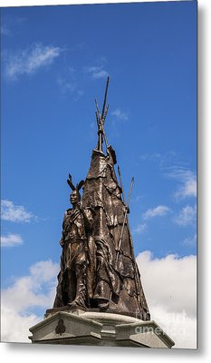 Tammany Regiment Monument At Gettysburg Metal Print by John Greim