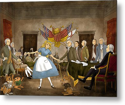 Tammy In Independence Hall Metal Print by Reynold Jay