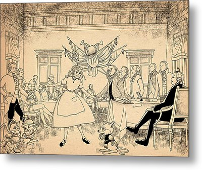Metal Print featuring the drawing Tammy In Indpendence Hall by Reynold Jay