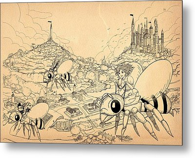 Metal Print featuring the drawing Flight Over Capira by Reynold Jay