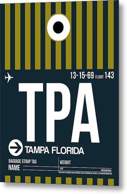 Tampa Airport Poster 1 Metal Print by Naxart Studio
