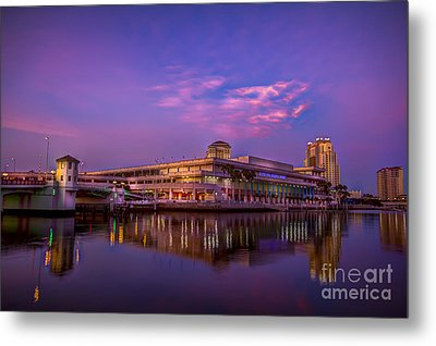 Tampa Convention Center At Dusk Metal Print by Marvin Spates