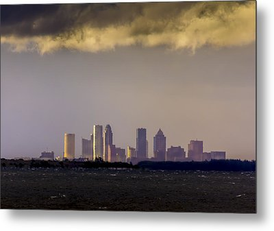 Tampa On The Horizon Metal Print
