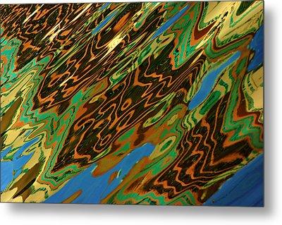 Tampa Reflection Abstract IIi Metal Print by Daniel Woodrum
