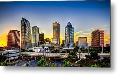 Tampa Skyline Metal Print by Marvin Spates