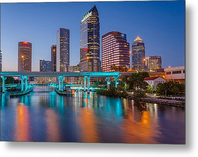 Tampa Skylines Metal Print by RC Pics