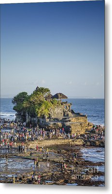 Tanah Lot Temple In Bali Indonesia Coast Metal Print