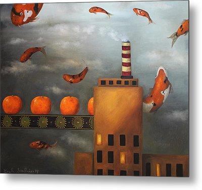 Tangerine Dream Metal Print by Leah Saulnier The Painting Maniac