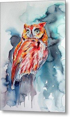 Tangerine Owl  Metal Print