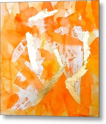 Tangerine Tango Metal Print by Roleen  Senic