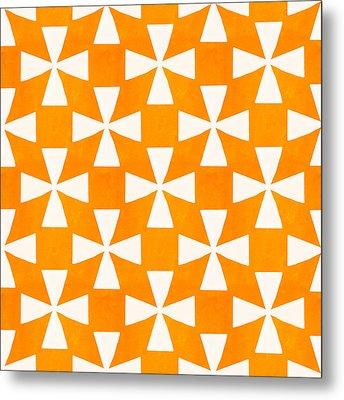 Tangerine Twirl Metal Print by Linda Woods