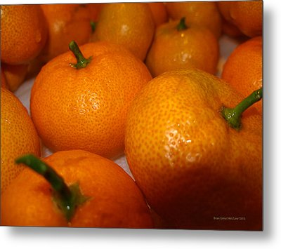 Tangerines 01 Metal Print by Brian Gilna
