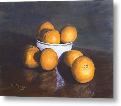 Tangerines Metal Print by Alan Mager