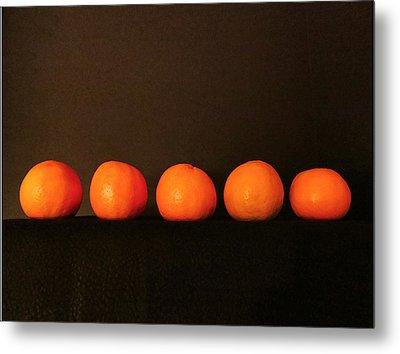 Tangerines Metal Print by Patricia Januszkiewicz